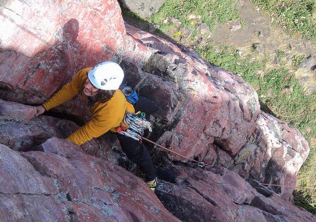 Rock Climbing Photo: This is a nice 5.7 lead climb. 2010