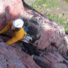 This is a nice 5.7 lead climb.<br> 2010