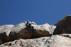 Rock Climbing Photo: Albert Ramirez getting into upper crack.
