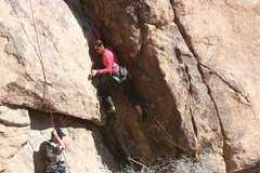 Rock Climbing Photo: Agina Sedler at the start.