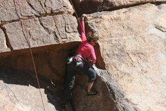 Rock Climbing Photo: Agina Sedler at the roof.