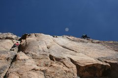 Rock Climbing Photo: Victoria Ramirez (left) on Take Five and Nathan Fi...