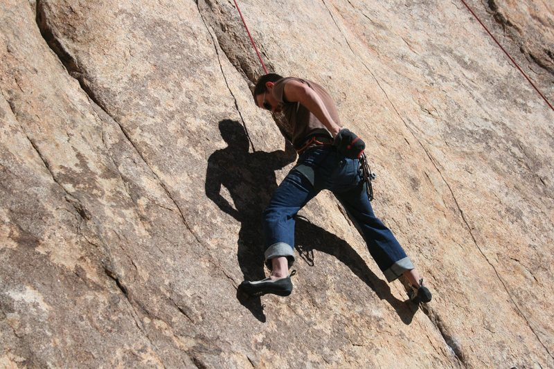 Rock Climbing Photo: Nathan Fitzhugh on Made in the USA (5.11a).