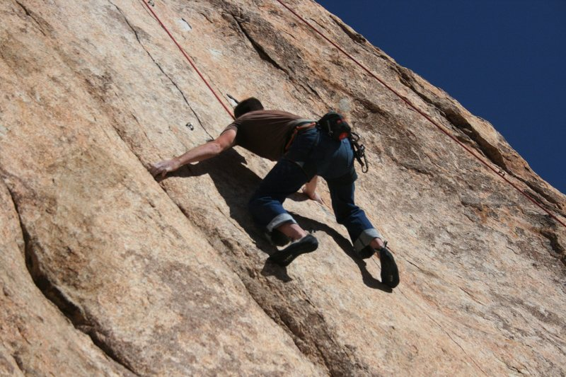 Nathan Fitzhugh on Made in the USA (5.11a).