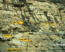 Rock Climbing Photo: Tiger Stripe Wall Left Side