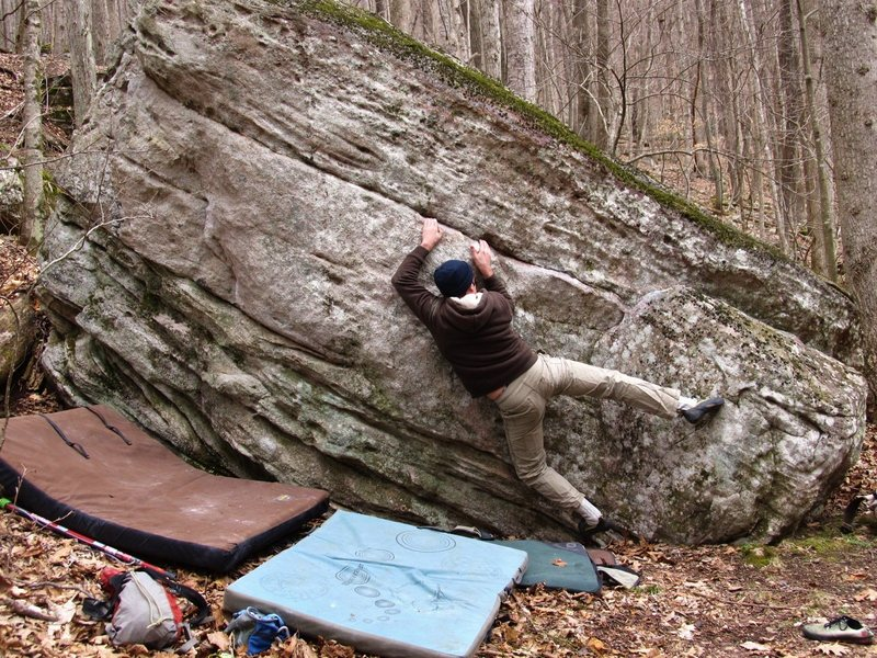"Rock Climbing Photo: Kevin on ""Side Show"""