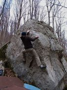 """Rock Climbing Photo: Kevin on """"Block Party"""""""
