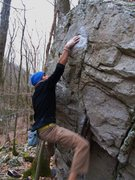 """Rock Climbing Photo: Aaron James Parlier on """"Lights Out"""""""