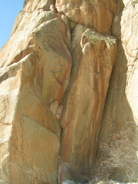 Rock Climbing Photo: Guiding Left Hand Crack with Terry / 2011, and Cas...
