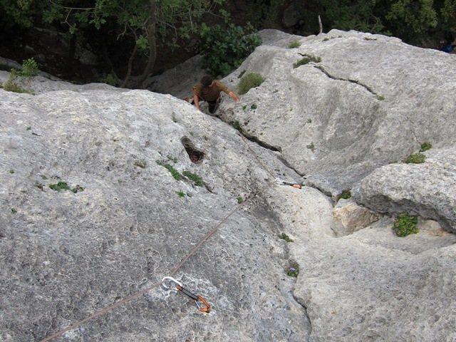 Rock Climbing Photo: Coming up Il Gufo.