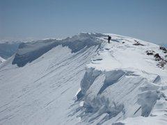 Rock Climbing Photo: Dwight Picking a safe line