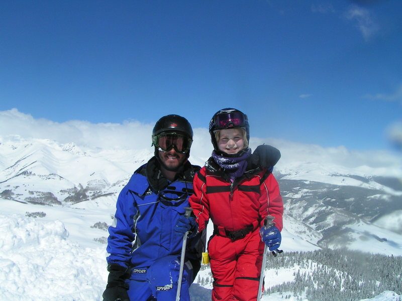 Teaching Skiing,,Cathern sure was brave<br> 2005