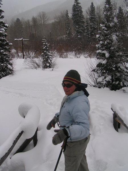 Elise on Ski Minning Trip<br>