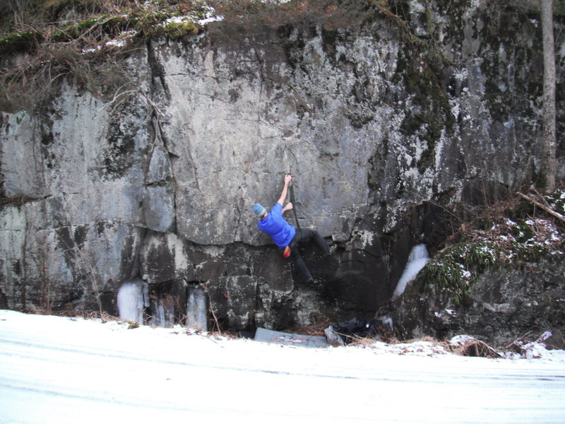 Rock Climbing Photo: Ben Stoddart on the route