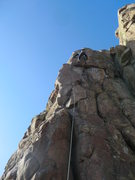 "Rock Climbing Photo: Josh Darnell climbing through crux on ""Shadow..."