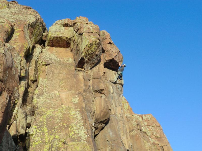 Rock Climbing Photo: Nearing the finish of MBA, March 2012.