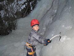 Rock Climbing Photo: Evan's 1st stick