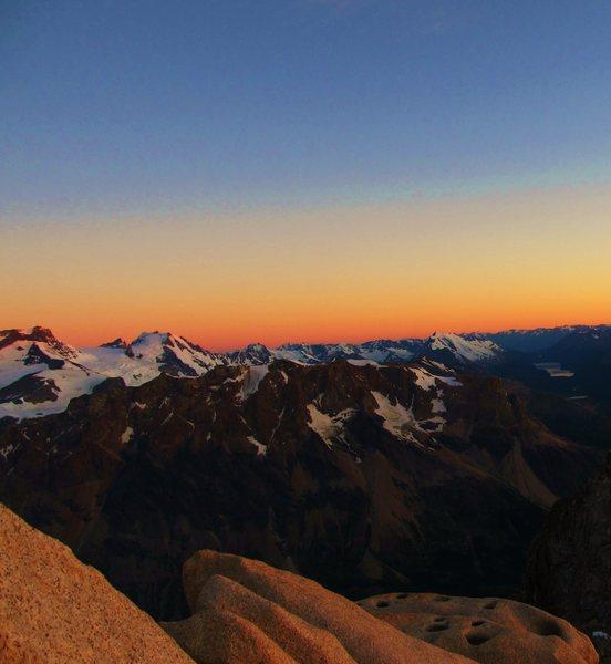 sunrise on guillaumet, patagonia