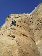 Rock Climbing Photo: Paul Irby on a 5.11 face climb at the Atomic Energ...