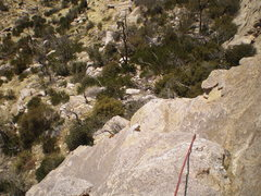 Rock Climbing Photo: On top the nice belay ledge.