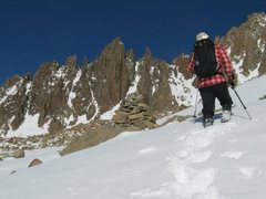 Rock Climbing Photo: southeast gully up and north to lavender col