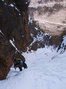 Rock Climbing Photo: Chris on the beginning/middle of shoestring.  I th...
