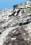 Rock Climbing Photo: did this new route in 1985, in this same area. doe...