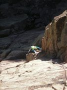 Rock Climbing Photo: Just over the fun overhang @ the start and into so...