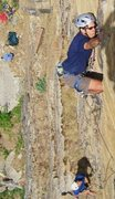 Rock Climbing Photo: Holding off the pump on Shere Khan.
