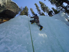 Rock Climbing Photo: Mikey on the ice.