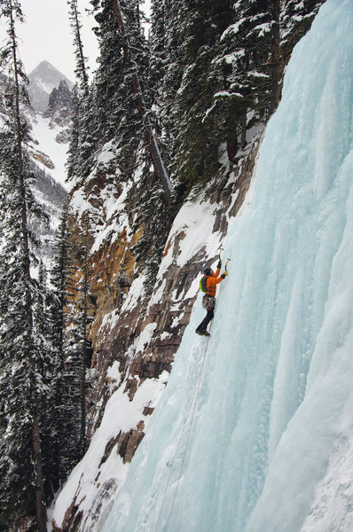 Rock Climbing Photo: Louise Falls. Nate Erickson on the 1st pitch. Feb ...