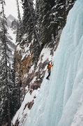 Rock Climbing Photo: Louise Falls. Nate Erickson on the 1st pitch. Feb ...