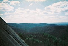 Rock Climbing Photo: Me at the top of the first pitch by the tree mid r...