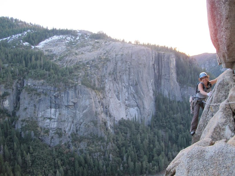 Rock Climbing Photo: Ronda traversing to the chains, great sunset photo...