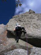 Rock Climbing Photo: Patty Black on the FA of Pork Chop