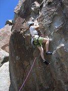 Rock Climbing Photo: Patty Black gettin' started on Shock and Awe
