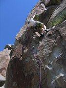 Rock Climbing Photo: Shock and Awe  Patty Black firin' a lap on one of ...