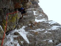 Rock Climbing Photo: Chris leading pitch 3