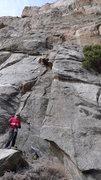 Rock Climbing Photo: Bryan about to begin.