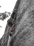 Rock Climbing Photo: On Inferno, P3 at Whitehorse, carrying way too muc...