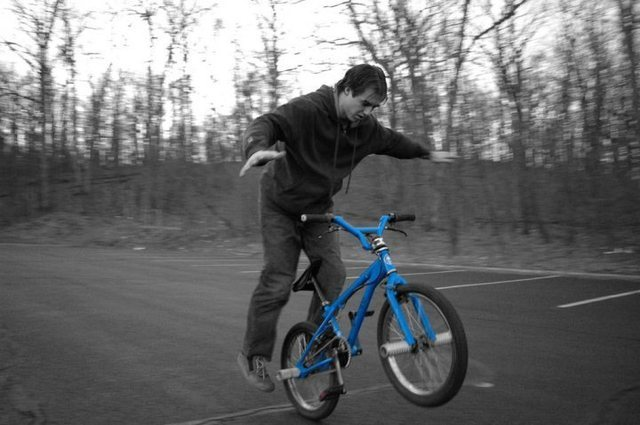 Rock Climbing Photo: Occasionally I dig the bike out of the garage and ...