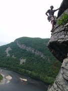 Rock Climbing Photo: Easy stuff at Delaware Water Gap