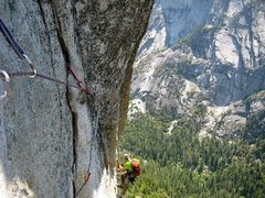 Rock Climbing Photo: Jugging on the Column