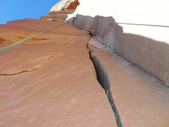 Rock Climbing Photo: The upper section of the climb.  Short wind sectio...