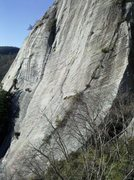Rock Climbing Photo: Route is in red.  Annie Get Your Guns and Wild Wil...