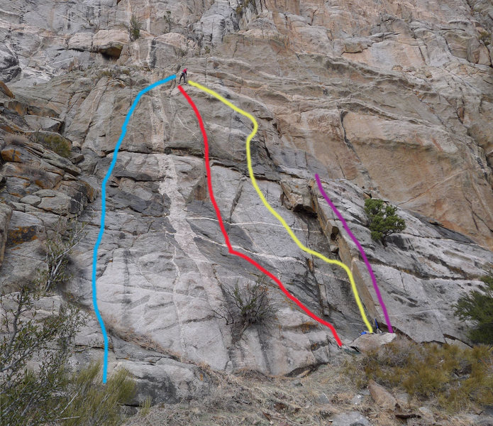 Red route pictured.