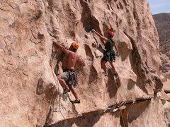 Rock Climbing Photo: Tony Moser leading Bacon Flake, Lisa Pritchett lea...