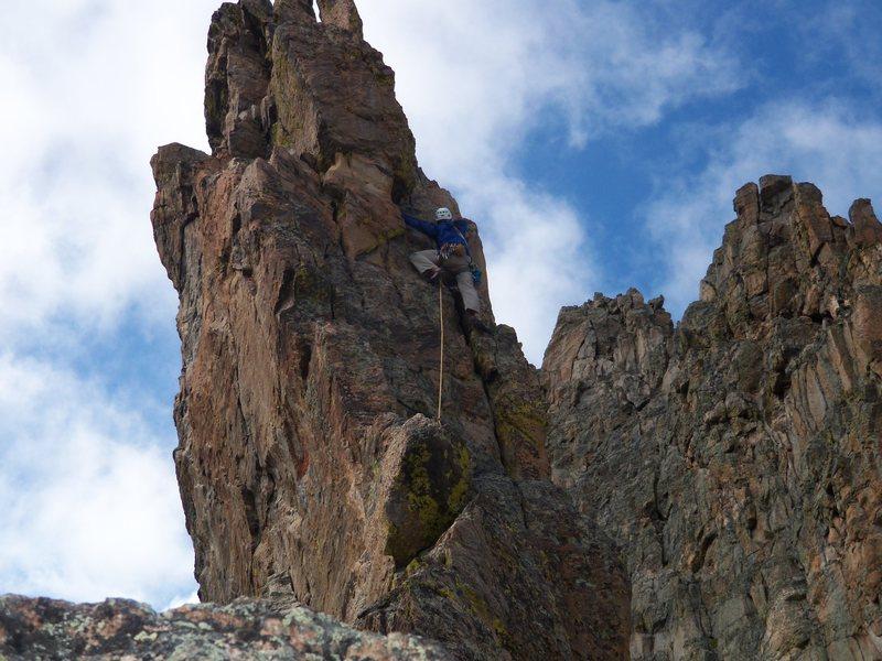Petit Grepon, CO<br> summit push