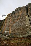 Rock Climbing Photo: Meadow Wall Far Left Topo
