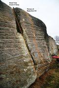 Rock Climbing Photo: Meadow Wall left Topo